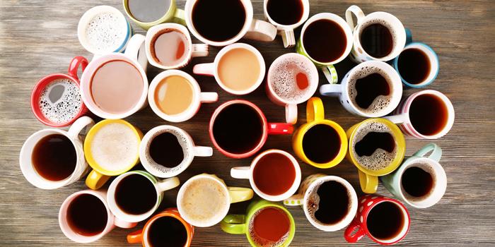 Mugs with coffee