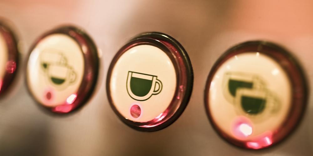 Coffee maker buttons