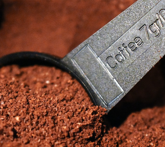 Ground coffeee closeup