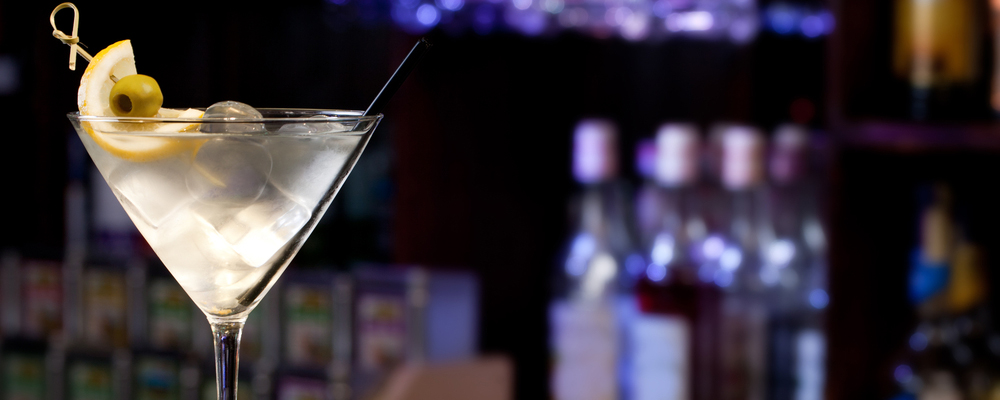 Martini on the background of the bar