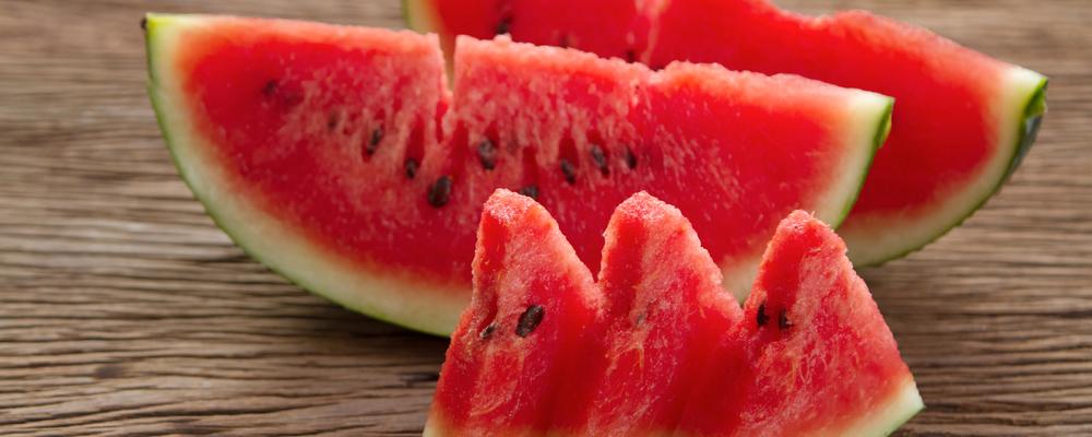 watermelon  slice on wooden background