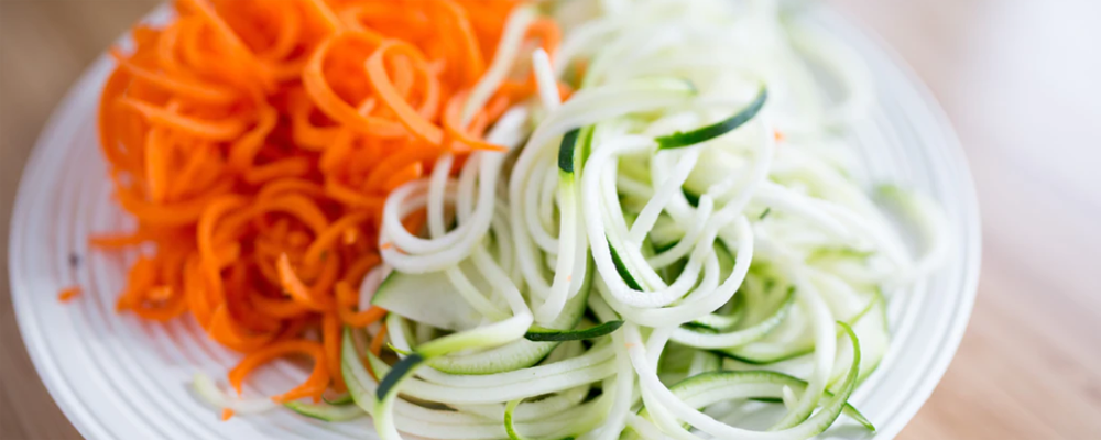Zoodle on a plate
