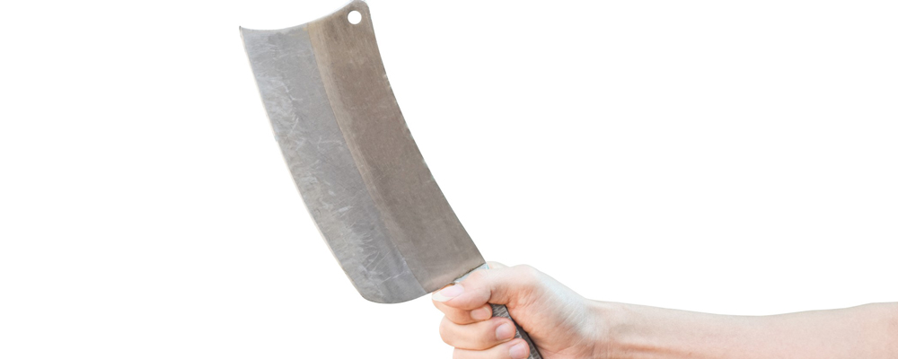 Man holding chef knife