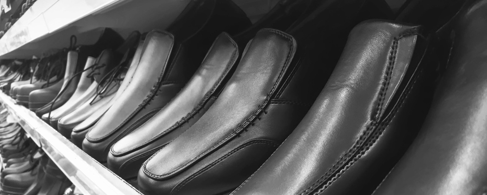 Row of Men's Leather Shoes