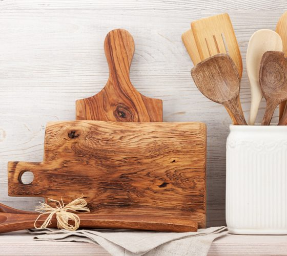 Set of various kitchen utensils