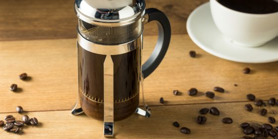 Warm Homemade French Press Coffee