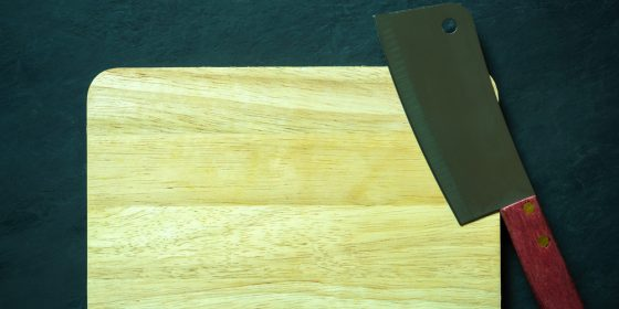 Cutting board and Chinese chef knife